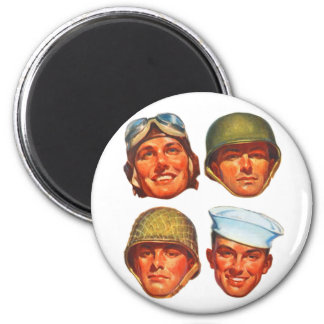 Vintage Military Army Navy Marines Airforce Men Refrigerator Magnets