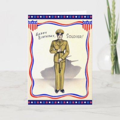 Vintage Military Birthday Greetings Sailor Card Zazzle Com