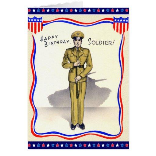Vintage Birthday Cards Army