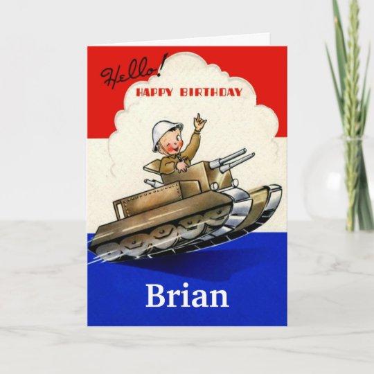 Vintage Military Birthday Card Zazzle Com