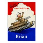 Vintage  Military Birthday Card