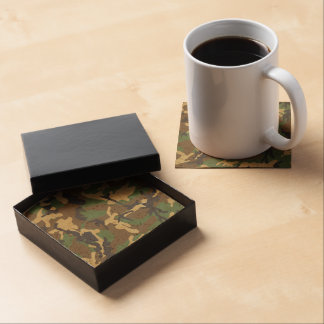 Vintage Military Camouflage Pattern Coaster