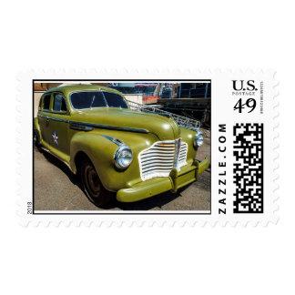 Vintage Military Car Medium Postage Stamp