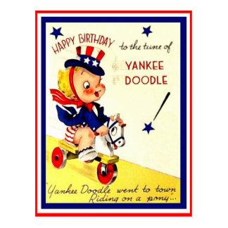 Vintage Military Child's Birthday Postcard