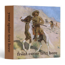 Vintage Military Cowboys, The Scout by Remington 3 Ring Binder