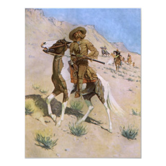 Vintage Military Cowboys, The Scout by Remington 4.25x5.5 Paper Invitation Card