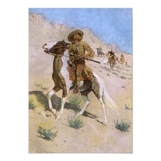 Vintage Military Cowboys, The Scout by Remington 5x7 Paper Invitation Card