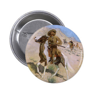 Vintage Military Cowboys, The Scout by Remington 2 Inch Round Button
