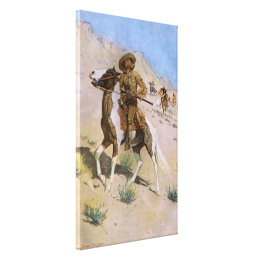 Vintage Military Cowboys, The Scout by Remington Canvas Print