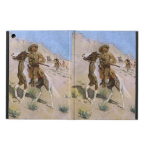 Vintage Military Cowboys, The Scout by Remington Cover For iPad Air