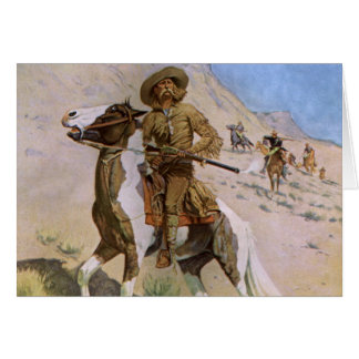 Vintage Military Cowboys, The Scout by Remington Greeting Card