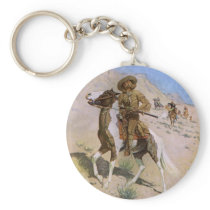 Vintage Military Cowboys, The Scout by Remington Keychain
