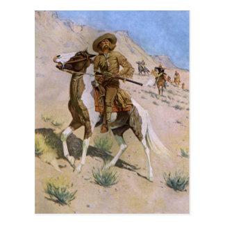Vintage Military Cowboys, The Scout by Remington Postcard