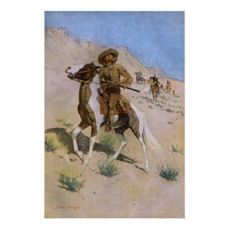 Vintage Military Cowboys, The Scout by Remington Poster