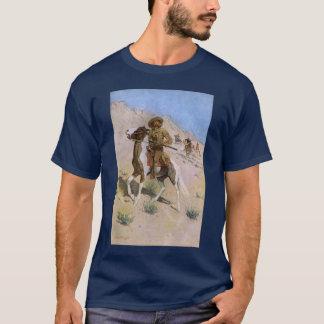 Vintage Military Cowboys, The Scout by Remington T-Shirt