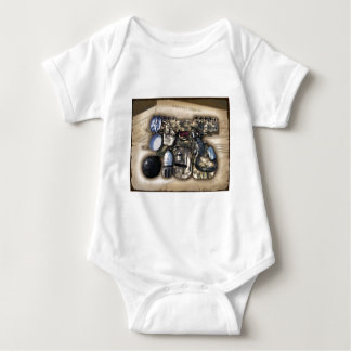 Vintage Military Issue Gear Baby Bodysuit