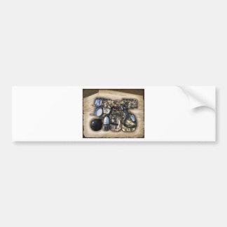 Vintage Military Issue Gear Car Bumper Sticker