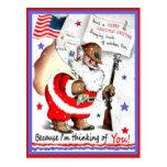 Vintage Military Merry Christmas Postcard