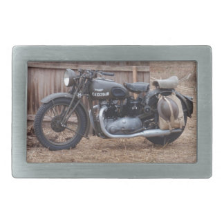 Vintage Military Motorcycle Rectangular Belt Buckles