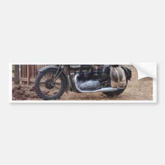 Vintage Military Motorcycle Car Bumper Sticker