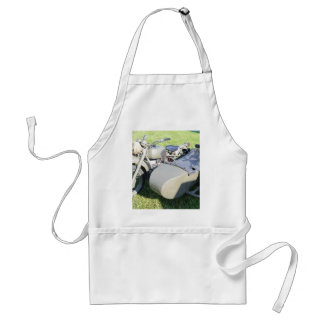 Vintage Military Motorcycle Combination Adult Apron