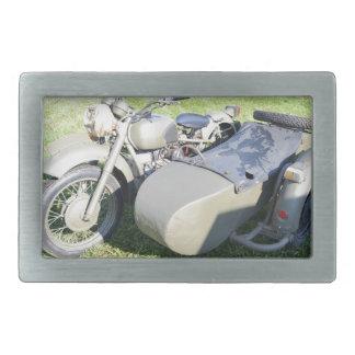 Vintage Military Motorcycle Combination Rectangular Belt Buckle