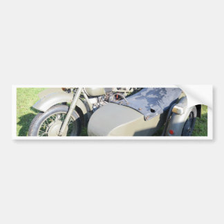 Vintage Military Motorcycle Combination Car Bumper Sticker