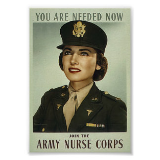 Vintage Military Nurse Corps Poster