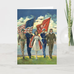 Vintage Military Personnel; Patriotic Cards