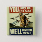 Vintage Military Pinback Button