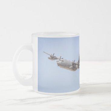 Vintage Military Plane Frosted Mug