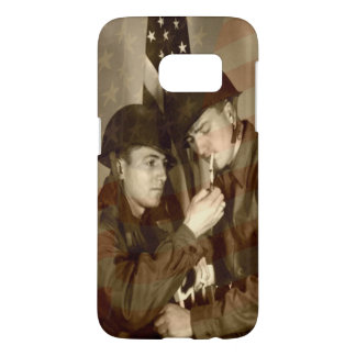 Vintage Military Soldiers Samsung Galaxy s7 Case