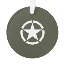 Vintage Military Star Ornament