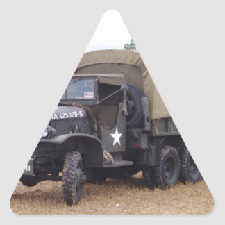 Vintage Military Truck Triangle Sticker