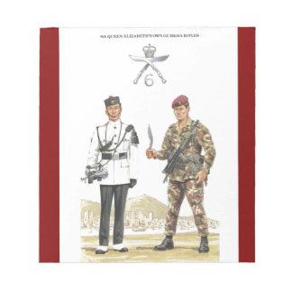 Vintage Military Uniforms, 6th Queen Elizabeth's Notepad