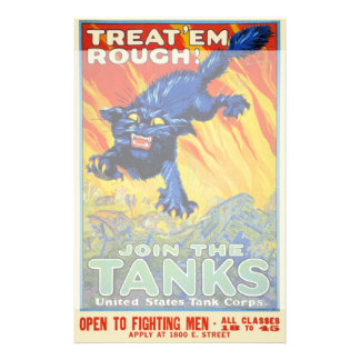 Vintage Military War Advertising with a Wild Cat Stationery