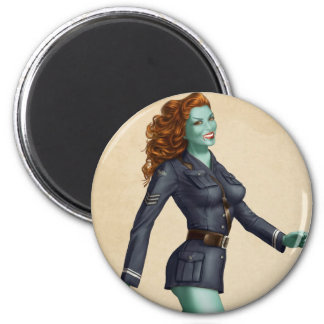 Vintage Military Zombie Pinup Girl Magnets
