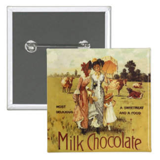 Vintage Milk Chocolate Cow Party Button