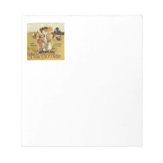 Vintage Milk Chocolate Cow Party Notepad