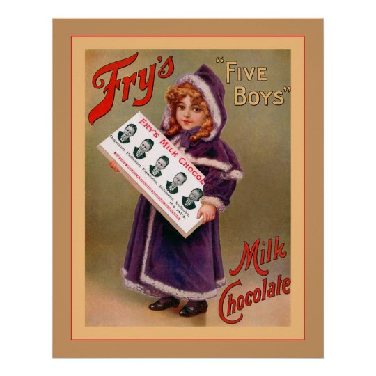 Vintage Milk Chocolate ~ Vintage Advertising Poster