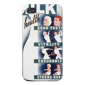 Vintage Milk for Health WPA Poster Cover For iPhone 4