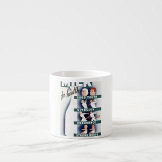 Vintage Milk for Health WPA Poster Espresso Cup