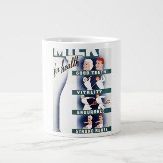 Vintage Milk for Health WPA Poster Giant Coffee Mug