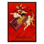 Vintage Milka Chocolate Ad Posters