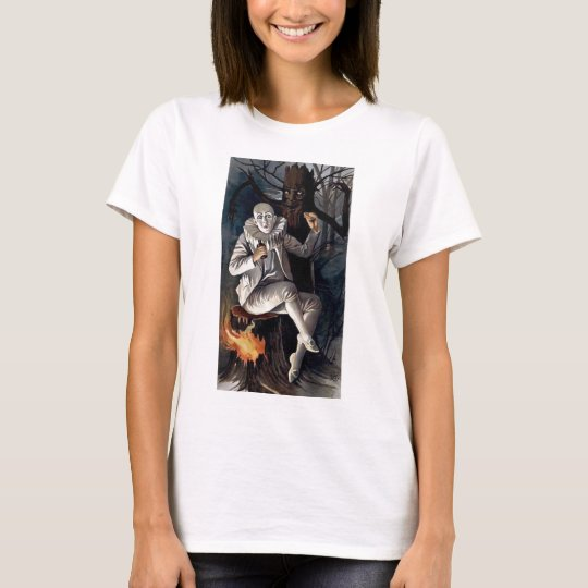 Vintage mime scary darl forest tree T-Shirt
