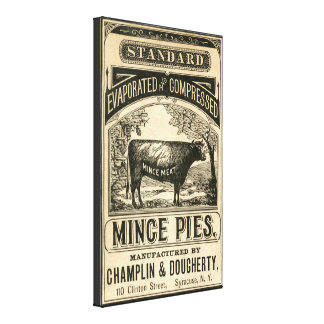 Vintage Mince Pies Kitchen Canvas Art