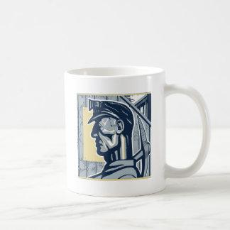 Vintage Miner Art Coffee Mug