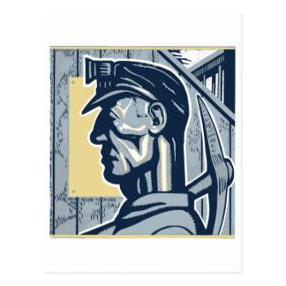 Vintage Miner Art Postcard
