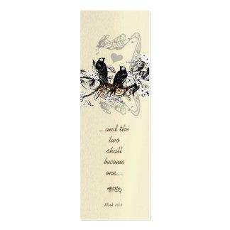 Vintage Mini Bookmark or Wedding Tags Mini Business Card