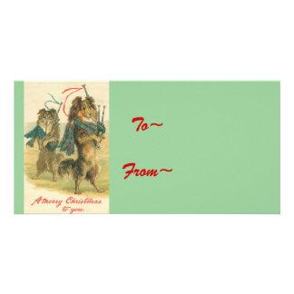 Vintage *Mini Collie* Merry Christmas! Photo Card